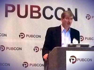Bruce Clay speaking at Pubcon
